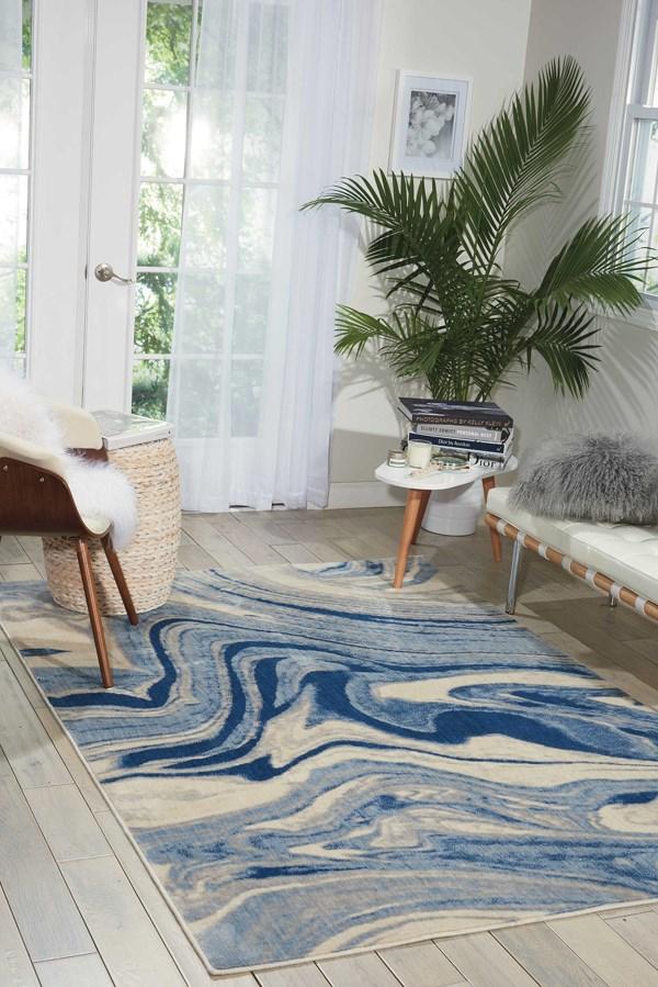 Light Blue Contemporary / Modern Area Rug