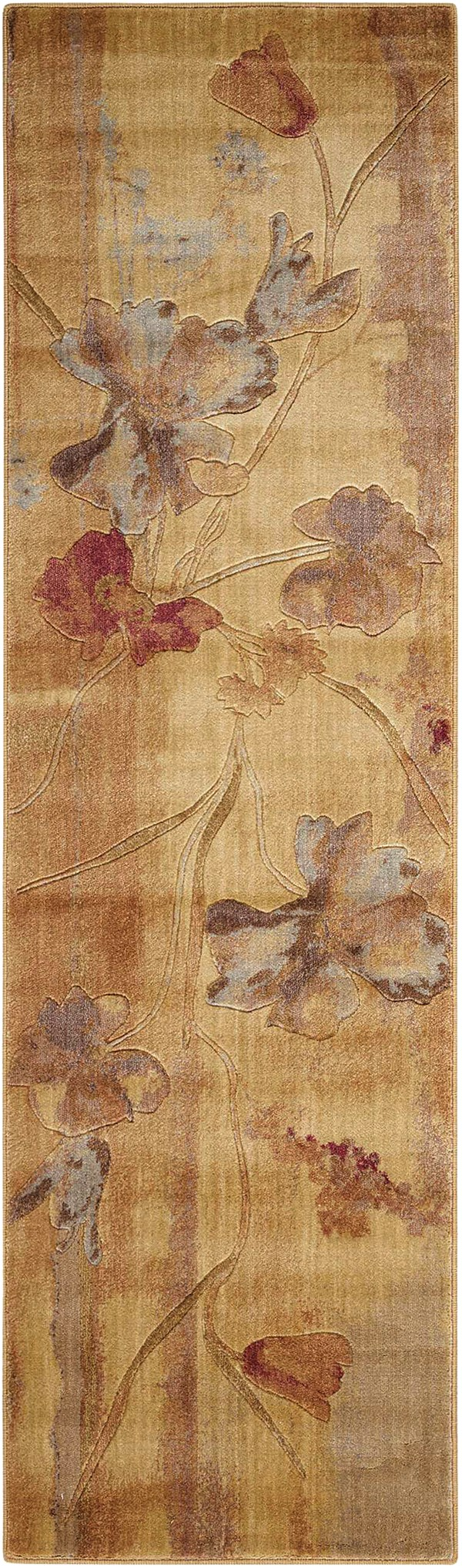 Beige Floral / Botanical Area Rug