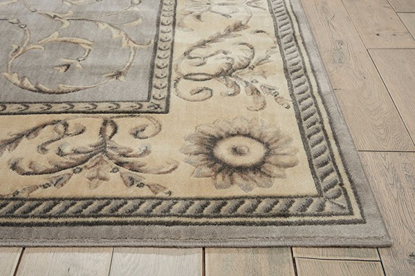 Silver Traditional / Oriental Area Rug