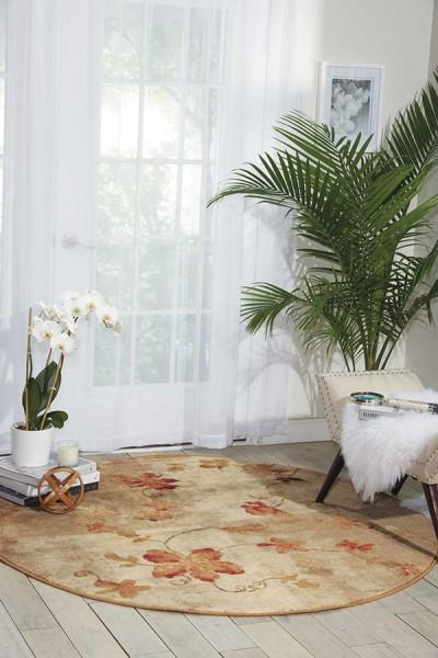 Ivory, Sage Floral / Botanical Area Rug