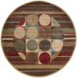 Product Image of Red, Brown Contemporary / Modern Area Rug