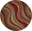 Product Image of Ivory, Red Contemporary / Modern Area Rug