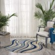 Product Image of Ivory, Blue Contemporary / Modern Area Rug