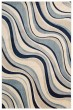 Product Image of Contemporary / Modern Ivory, Blue Area Rug
