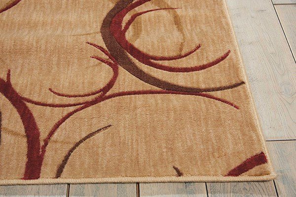 Beige Contemporary / Modern Area Rug