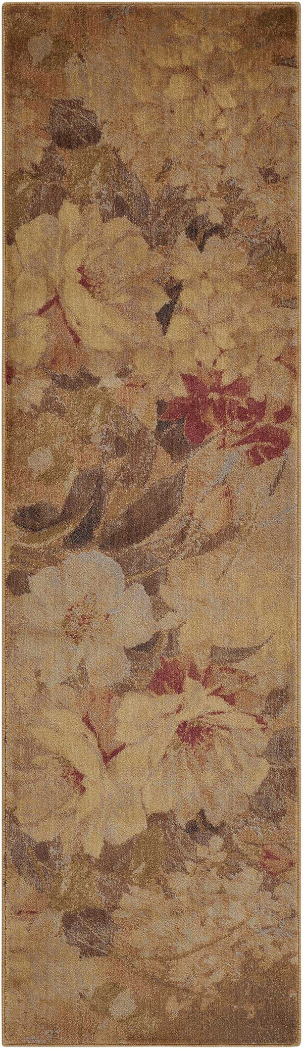 Ivory, Rust Floral / Botanical Area Rug