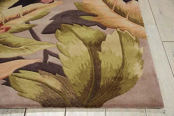 Plum Floral / Botanical Area Rug
