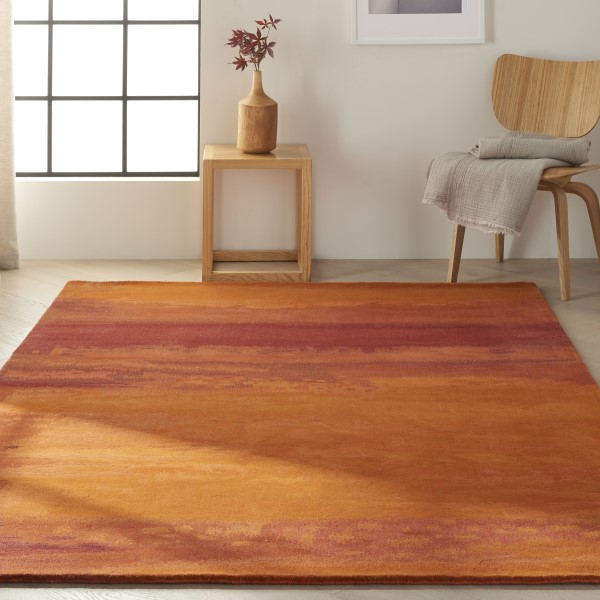Rust (SW-01) Abstract Area Rug