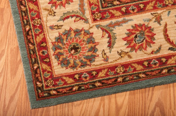 Aqua Traditional / Oriental Area Rug