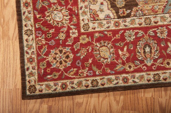 Ruby Red Traditional / Oriental Area Rug