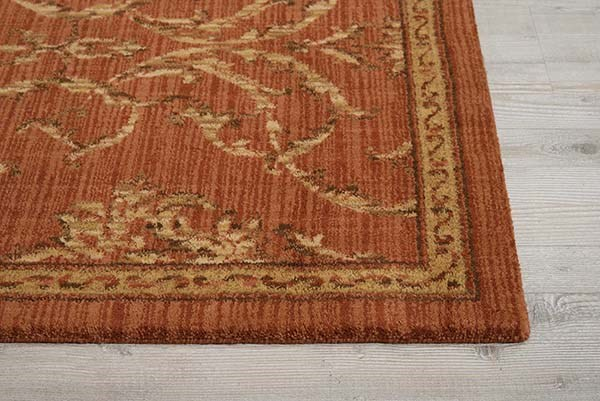Persimmon  Traditional / Oriental Area Rug