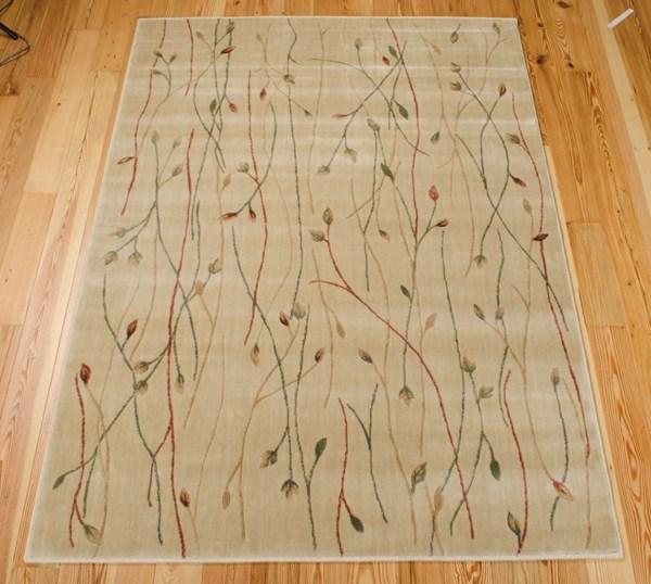 Ivory Floral / Botanical Area Rug