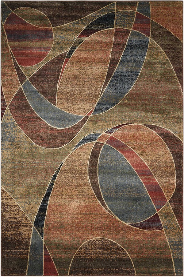 Blue, Brown Contemporary / Modern Area Rug