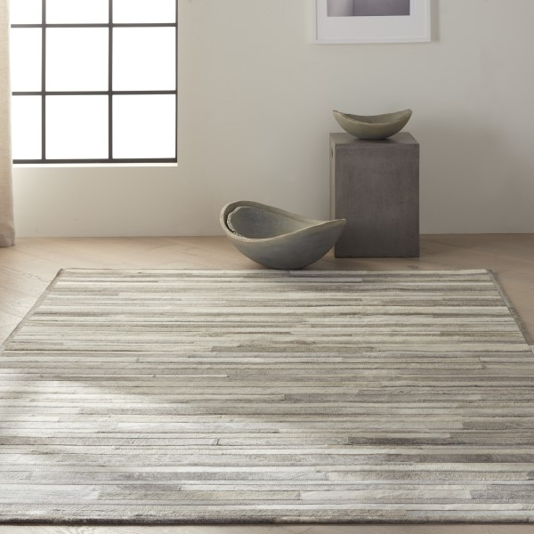 Silver Country Area Rug