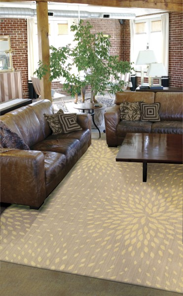 Beige Transitional Area Rug