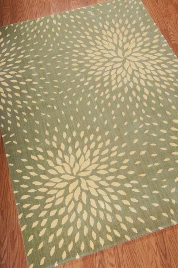Light Green Transitional Area Rug