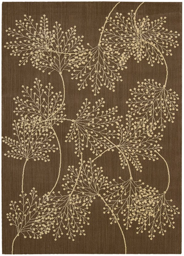 Chocolate Floral / Botanical Area Rug