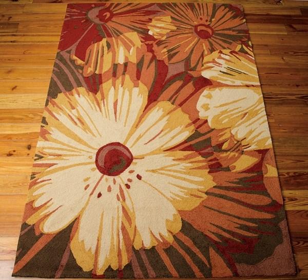 Cayenne Floral / Botanical Area Rug