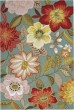 Product Image of Aqua Floral / Botanical Area Rug