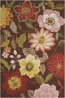 Product Image of Floral / Botanical Chocolate Area Rug