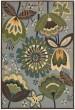 Product Image of Floral / Botanical Aqua Area Rug