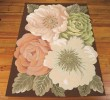 Product Image of Brown, White, Peach  Floral / Botanical Area Rug