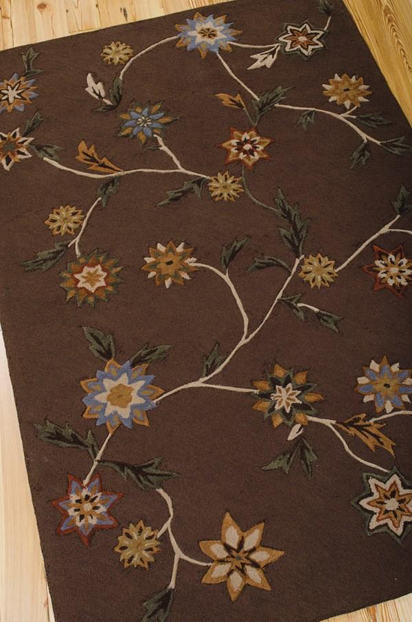 Brown Floral / Botanical Area Rug