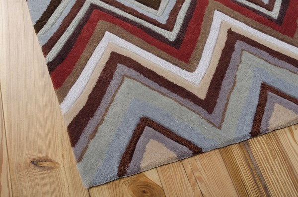Blue, Red, Sage Southwestern / Lodge Area Rug