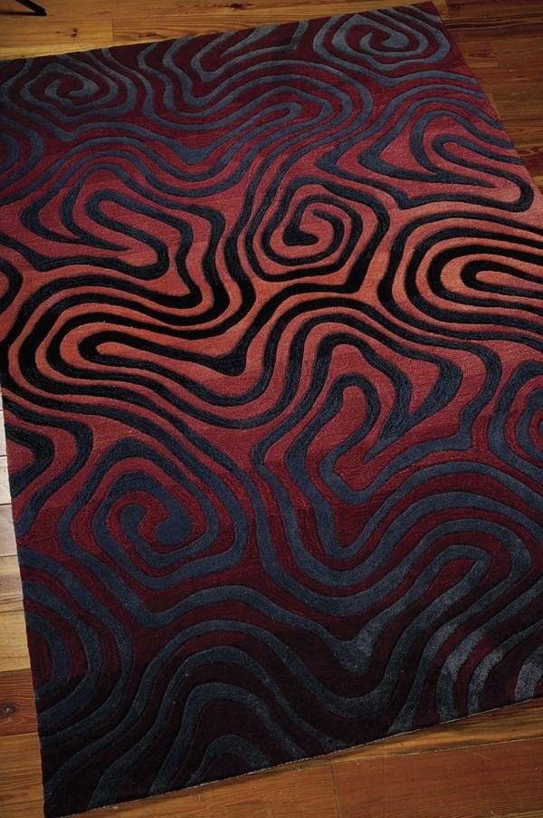 Sangria Contemporary / Modern Area Rug