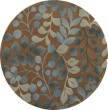 Product Image of Mocha Floral / Botanical Area Rug