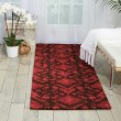 Product Image of Brown, Red Ikat Area Rug