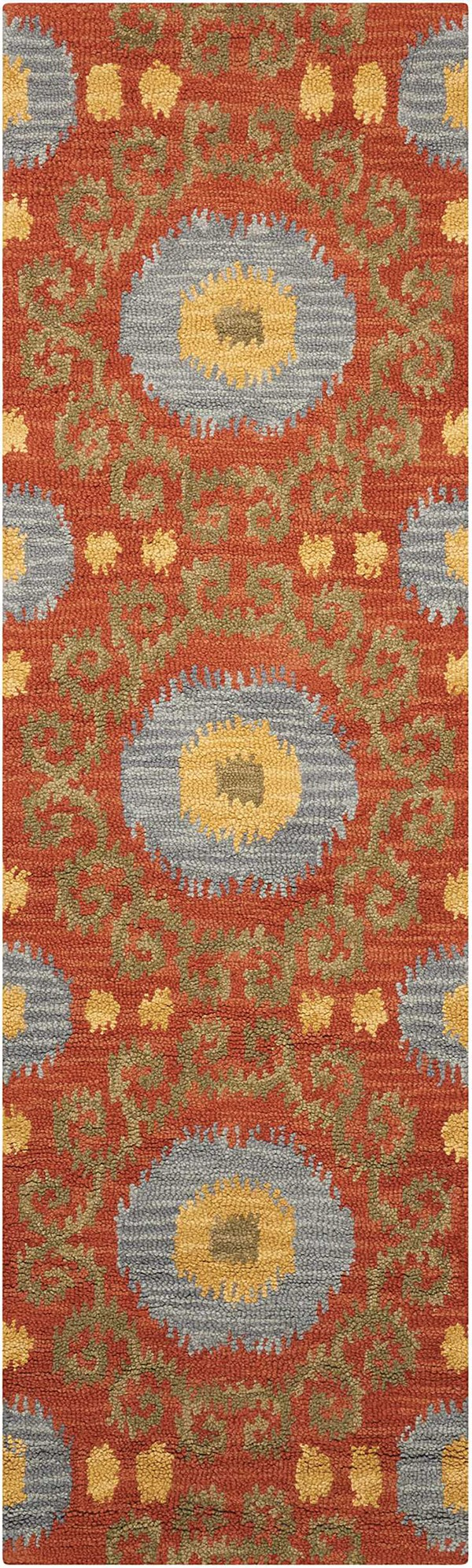 Rust Moroccan Area Rug