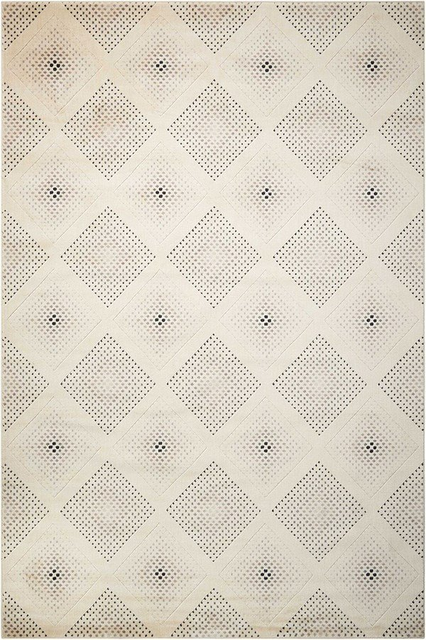 Champagne Contemporary / Modern Area Rug