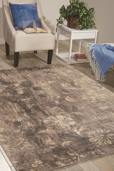 Ivory, Slate Transitional Area Rug