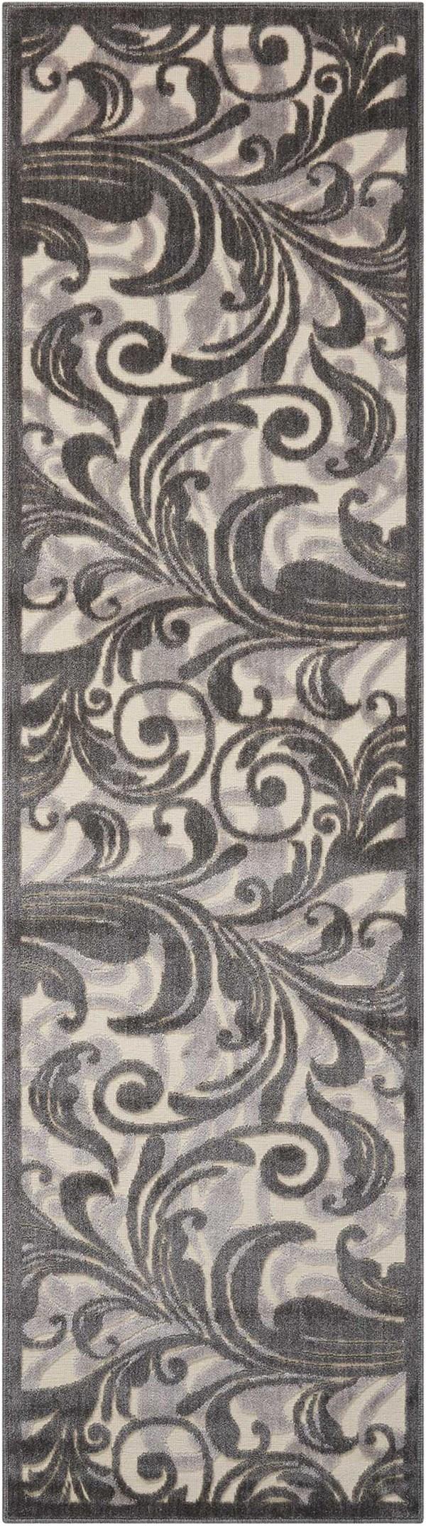 Black, Grey Transitional Area Rug