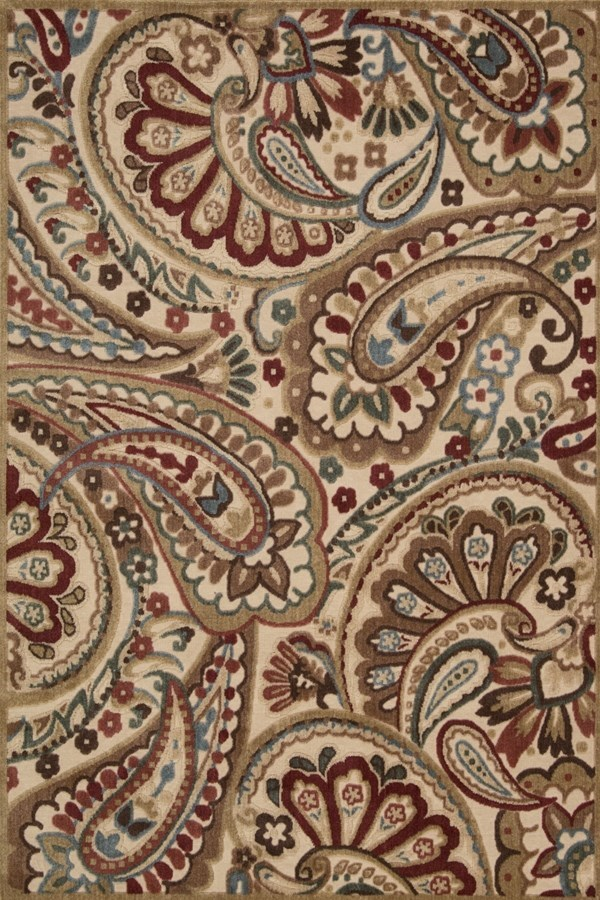 Gold Paisley Area Rug