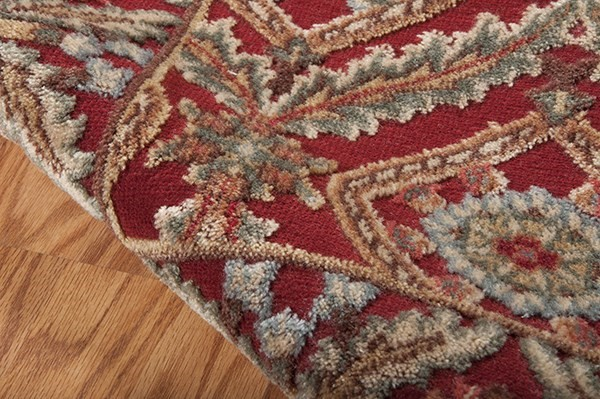 Red Traditional / Oriental Area Rug
