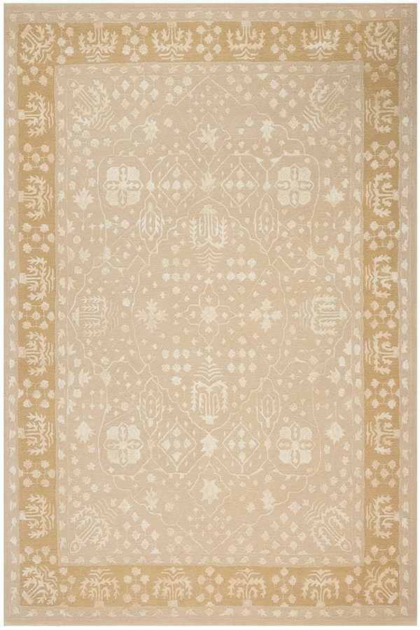 Gold Oak Traditional / Oriental Area Rug