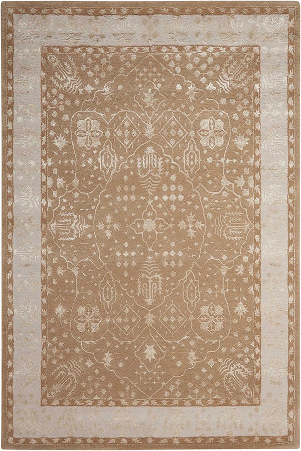 Warm Taupe Traditional / Oriental Area Rug