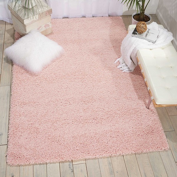Blush Solid Area Rug