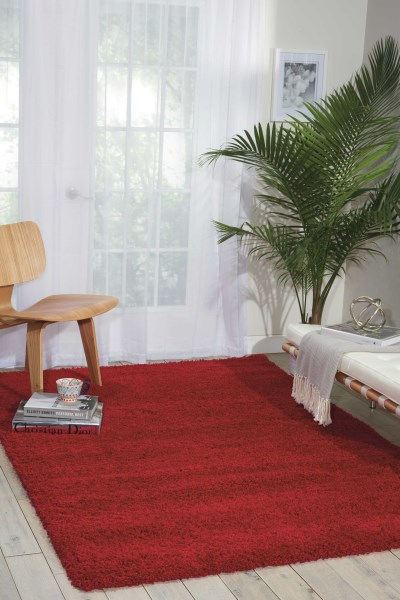 Red Solid Area Rug