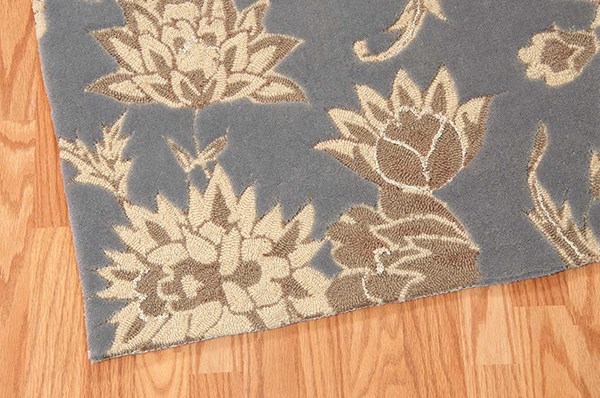 Slate Floral / Botanical Area Rug