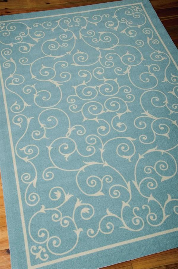 Light Blue Outdoor / Indoor Area Rug