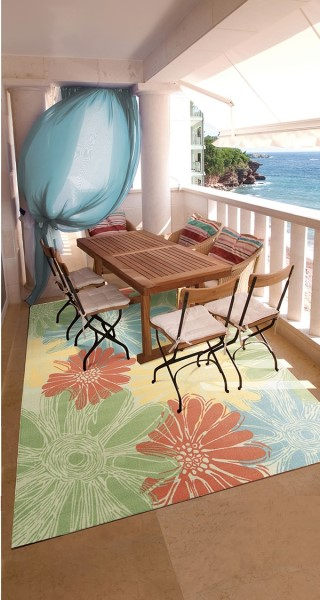 Ivory Outdoor / Indoor Area Rug