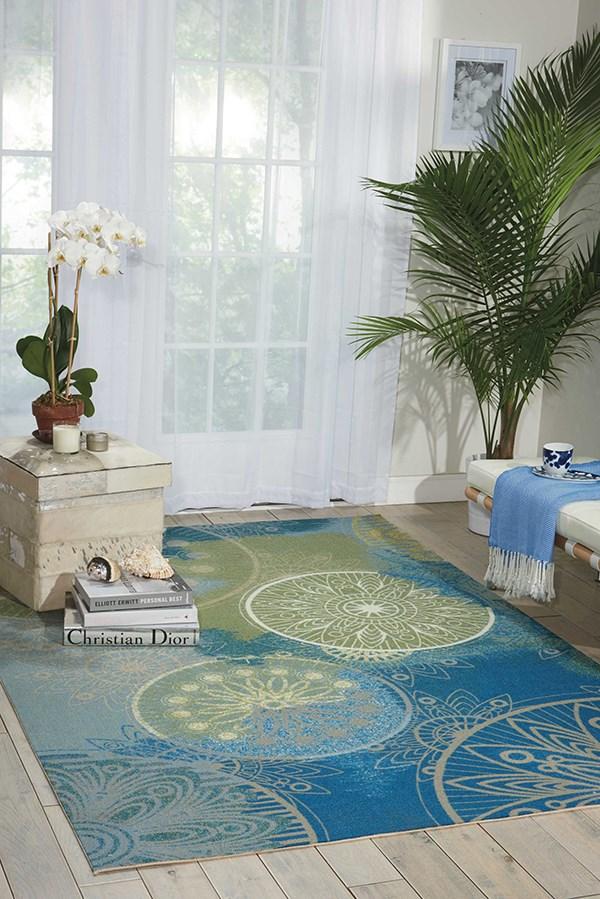 Blue Mandala Area Rug