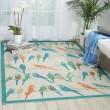 Product Image of Blue, Orange, Sage Outdoor / Indoor Area Rug