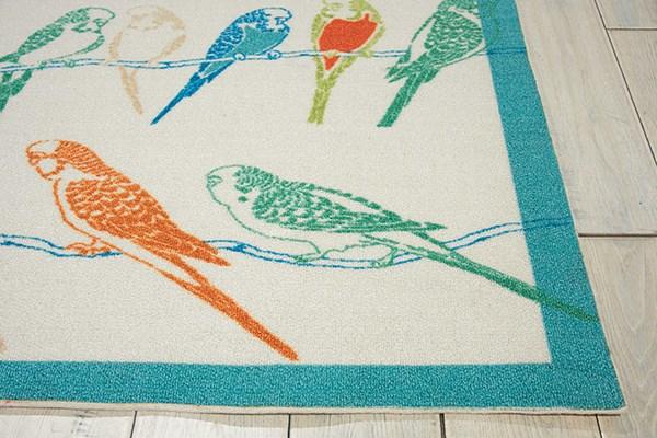 Blue, Orange, Sage Outdoor / Indoor Area Rug
