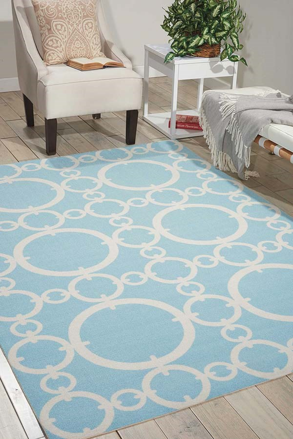 Aquamarine Contemporary / Modern Area Rug