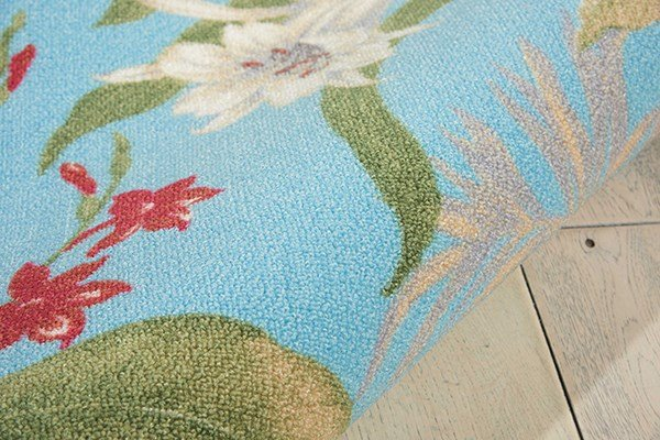 Aqua Outdoor / Indoor Area Rug