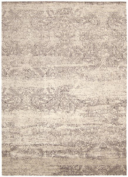 Ivory, Black Traditional / Oriental Area Rug